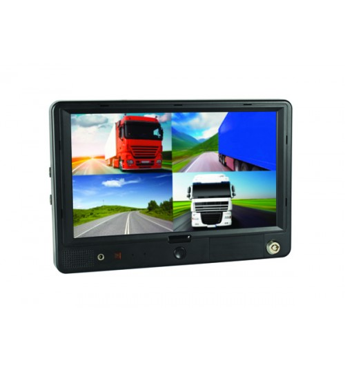 Quad Monitor with Video Recording DVR3