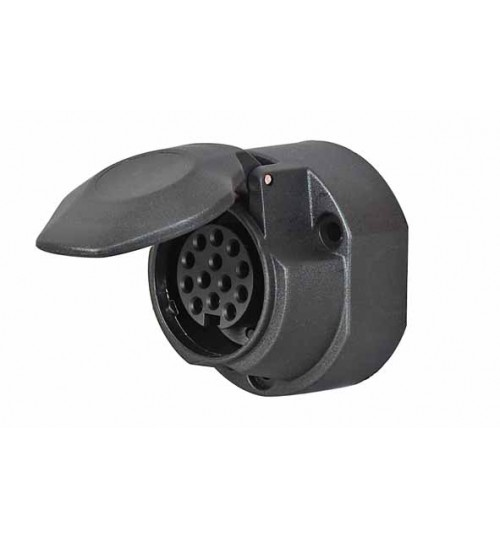 13 Pin Plastic Socket  with Fog Cut Out 069509