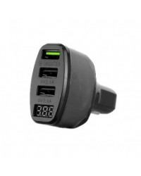 Fast Charge 3 USB's Charger with Voltmeter 060112