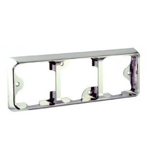 100 Series Chrome Triple Bracket 100B3C