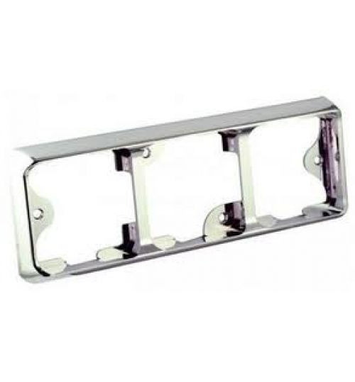 125 Series Chrome Triple Bracket 125B3C