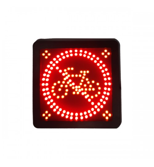 LED Cycle Warning Sign 087060