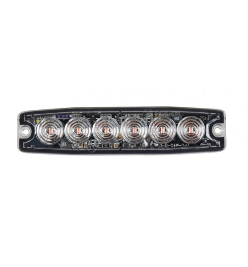 Amber 6 LED Light Head LED9A