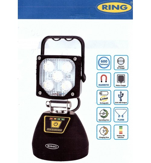 Rechargeable Magnetic Mount LED Worklamp RCV9605