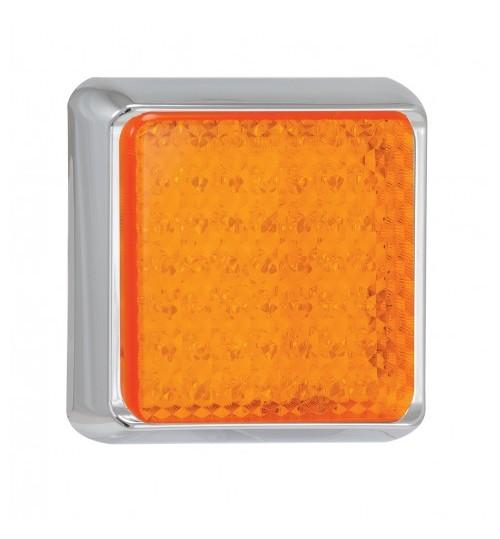 Square Rear Indicator Lamp Chrome 100CAME