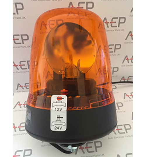 Amber Single Bolt 12V - 24V Rotating Beacon 391