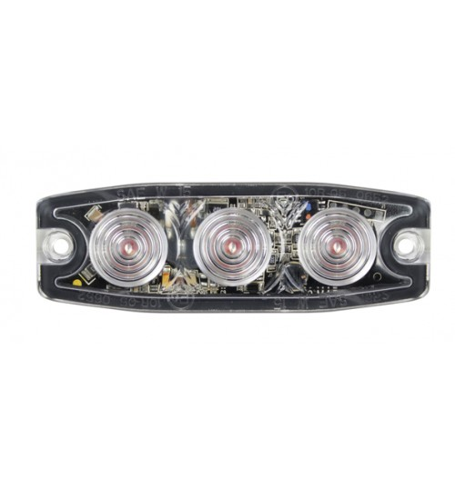Amber Low Profile LED Warning Light LED10A