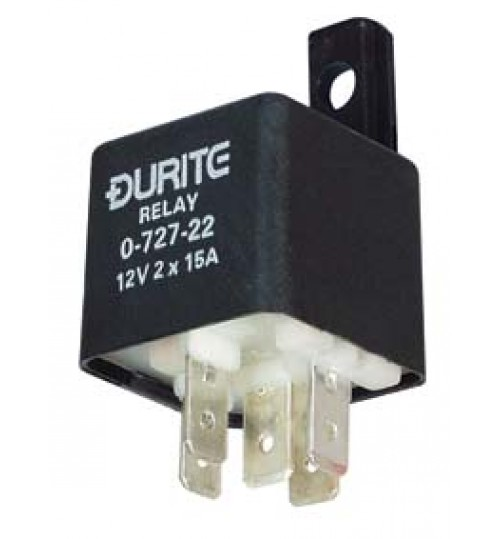 12V Mini Double Make and Break Relay  072722