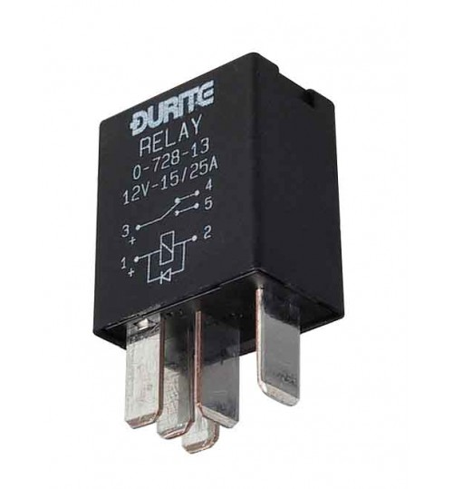 DURITE 0-727-22 5 PIN MINI DOUBLE MAKE BREAK RELAY 12V 2x 25A AMP WITH BRACKET