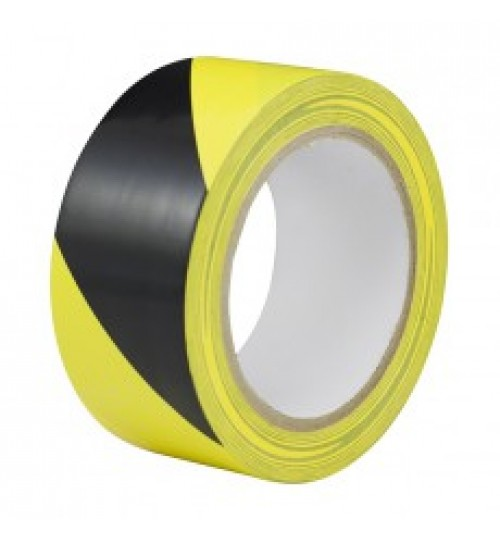 Black & Yellow Hazard Warning Tape 055778