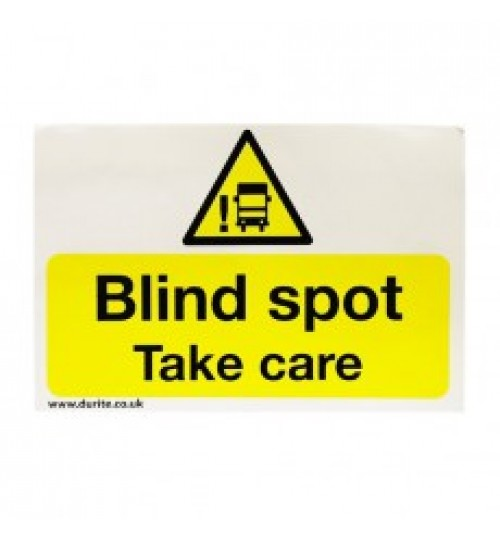 Blind Spot Warning Safety Sign 087050