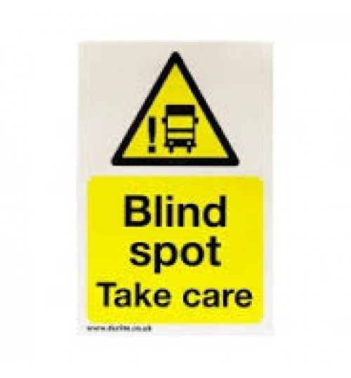 Blind Spot Warning Safety Sign 087051