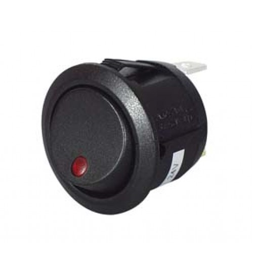 Amber LED, On-off, Single Pole ,Plastic, 12-24 Volt   053110