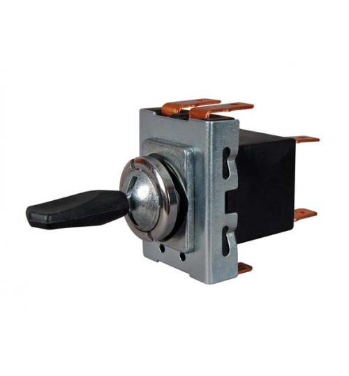 On-on-on Single Pole Switch with Paddle Style Lever  064511