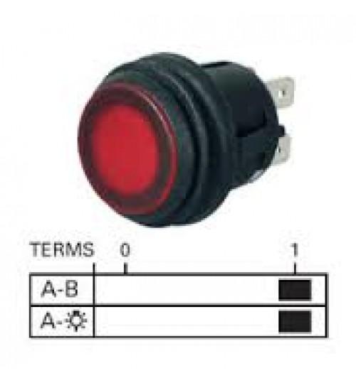 On-off, Push-push Single Pole, Amber LED Illuminated  069060