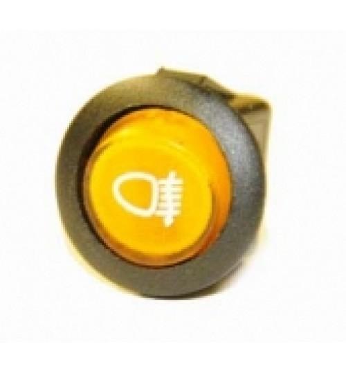 Illuminated Round Front Fog Switch Amber  LED  EX721FFOG