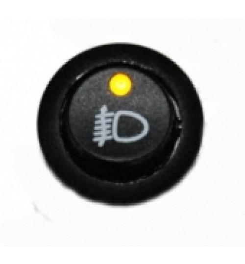 Illuminated Round Front Fog Rocker Switch Amber LED  EX731FF