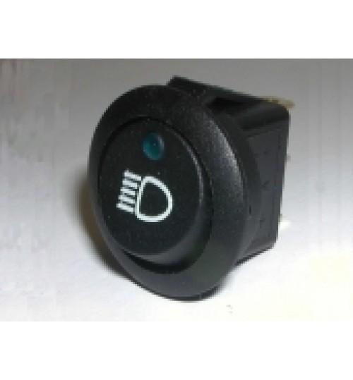 Illuminated Round Dashboard Rocker Switch Blue LED  EX732HL