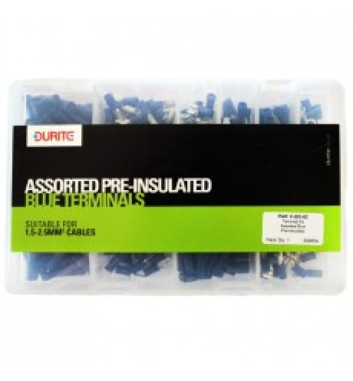 Blue Assorted Pre-Insulated Terminals 020302