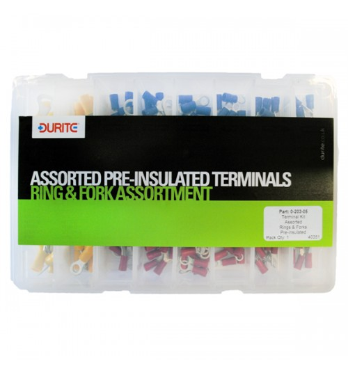 Ring and Fork Assorted Pre-Insulated Terminals 020305