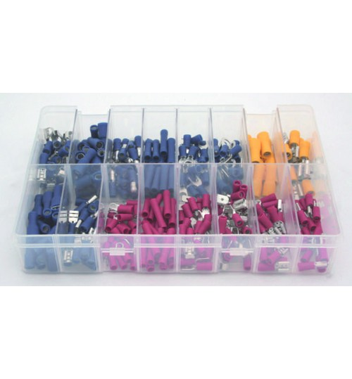 Assorted Box of Pre-Insulated Push On Terminals A02250