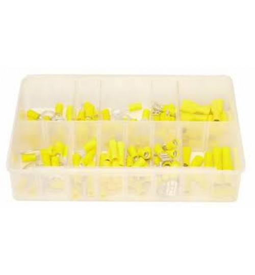 Assorted Box of 110 Pre-Insulated Yellow Terminals A02257
