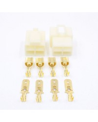 4 Way 6.3mm Housing Connector Kit PK10