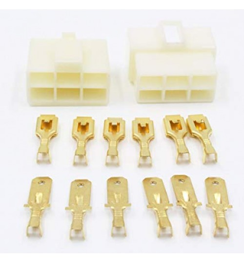 6 Way 6.3mm Housing Connector Kit PK11