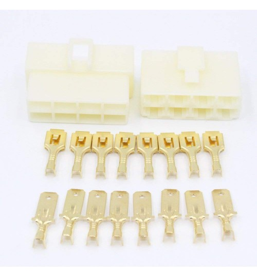 8 Way 6.3mm Housing Connector Kit PK12