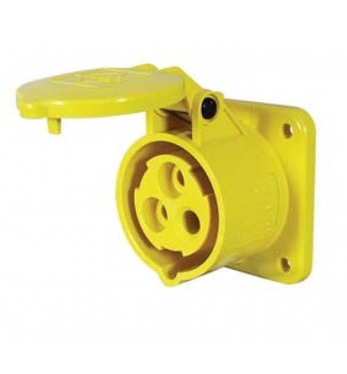 Yellow Panel Mounted Socket   069868