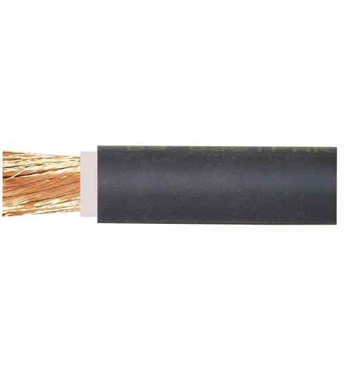 Black 460 Amp Copper Core Welding Type Flexible Battery Cable 098500